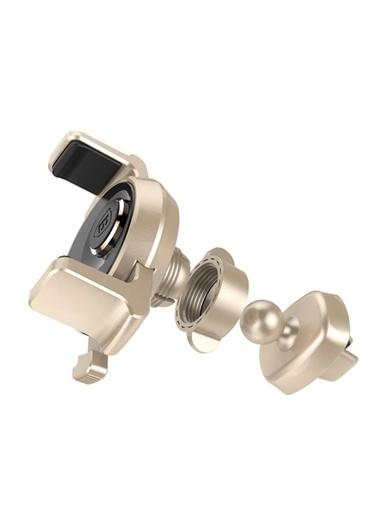 Baseus Mekanik Otomatik Havalandırma Telefon Tutucu Altın
